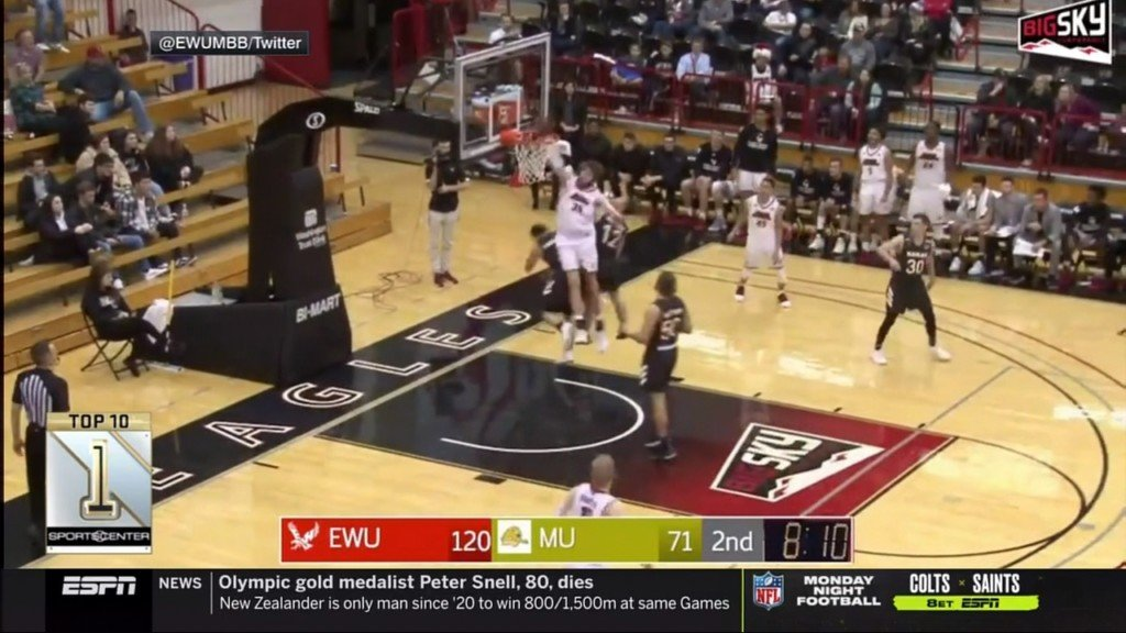 MUST SEE: Shadle Park, EWU basketball player's dunk is SportsCenter's #1 play