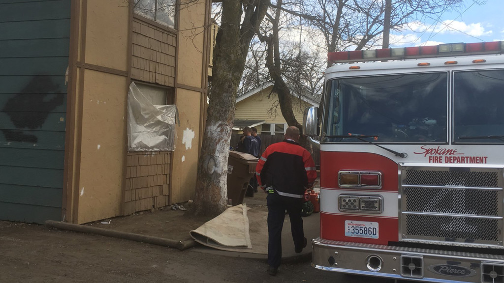 Man rescued after falling through floor into basement