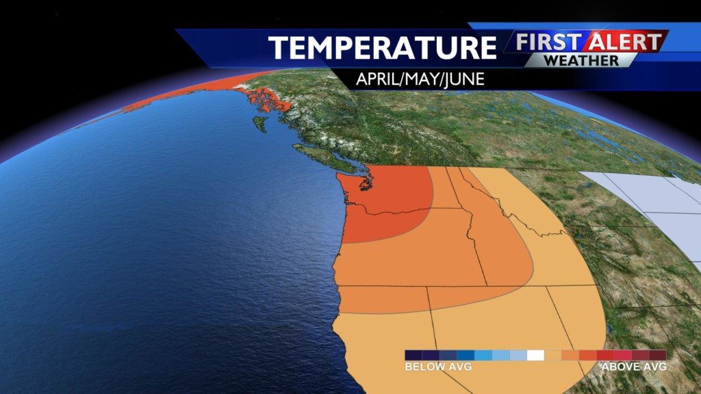 Climate scientists calling for warmer than average Spring in the Northwest