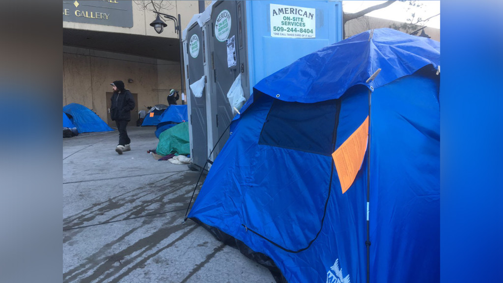 Residents of homeless camp in front of Spokane City Hall must vacate property