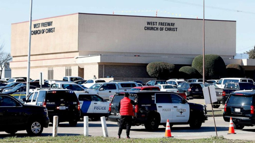 Scene of Texas Church shooting
