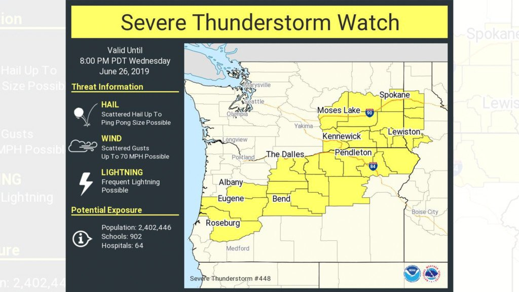 Severe thunderstorm watch in effect through Wednesday night