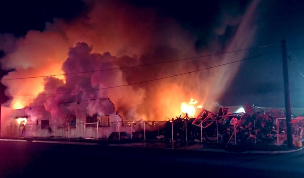 Abandoned east Spokane business catches fire