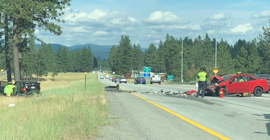 Accident slows eastbound traffic on I-90 through Coeur d'Alene