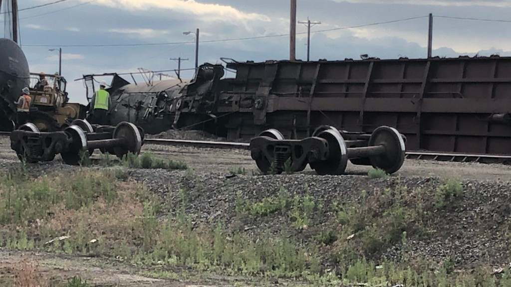 Multiple train cars derail near Sprague and Havana