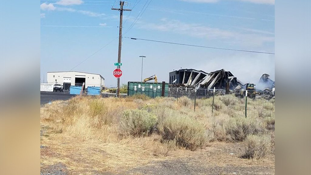 Grant County transfer station destroyed in fire