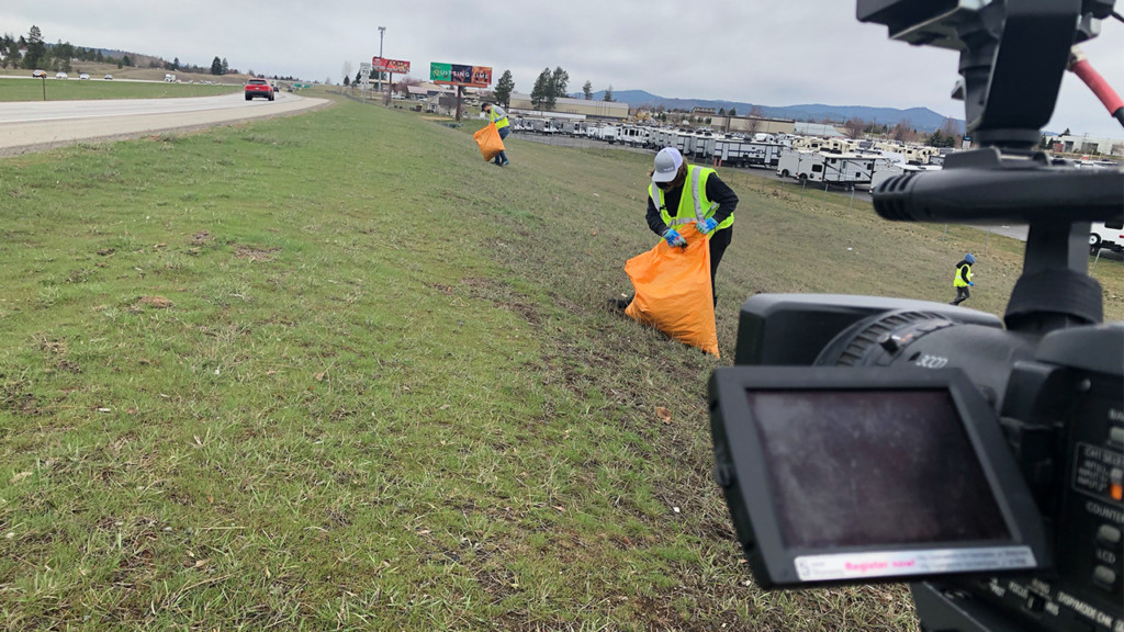 Trash along highway inspires  #TrashTag Challenge: I-90 Edition