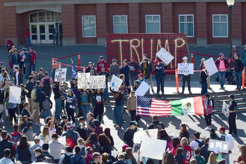 WSU College Republicans to build, display another Trump wall