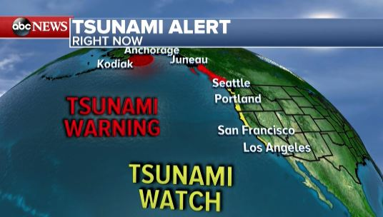 Tsunami Watch for WA coast canceled