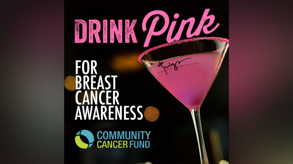 Drink Pink event at Twigs Bistro & Martini Bar