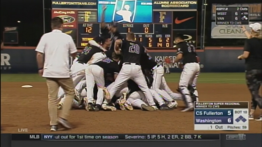 Huskies score 2 in 10th inning, advance to 1st ever CWS