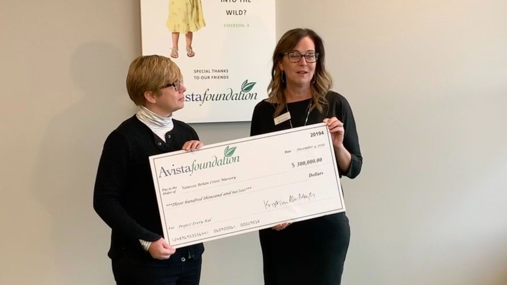 Avista Foundation gifts $300,000 to Vanessa Behan's 'Project Every Kid'