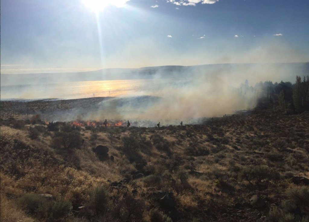 I-90 back open, fire near Vantage burned 1612 acres, is 50% contained