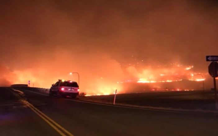 Ryegrass Coulee Fire creates long night for campers, first responders