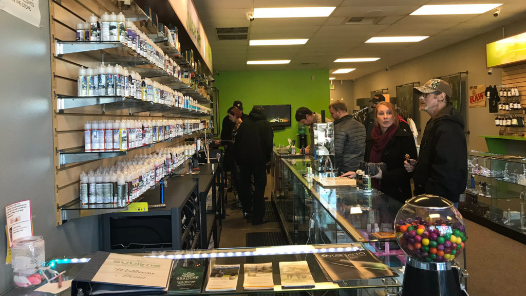 Customers scramble to stockpile flavored vape products following ban by Inslee