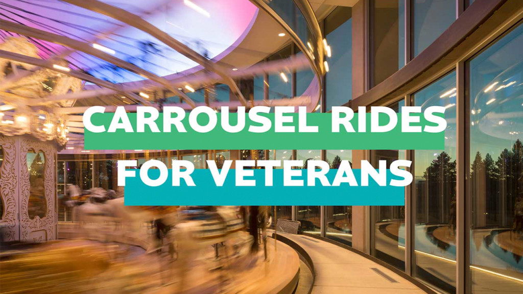 Veterans & their families can ride the Looff Carrousel for free today