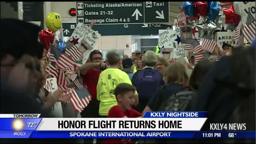 Veterans return to Inland Northwest from D.C. after Honor Flight