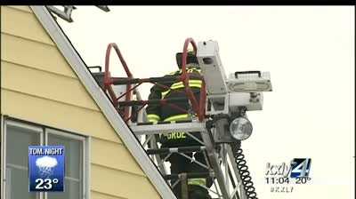Apartment fire sends one to hospital with burns