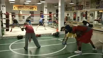 Boxer training for Silver Gloves with eyes on Olympic Gold
