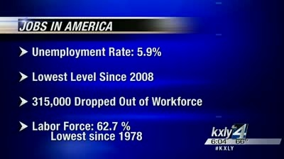 Does local economy reflect drop in national unemployment?