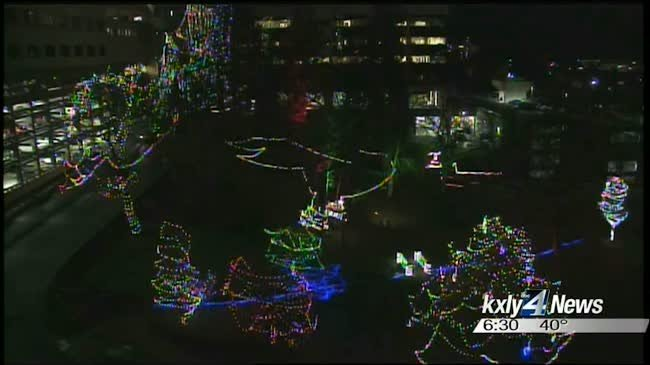KXLY4 lights up Children's Hospital in holiday spectacle