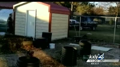 Local business replaces shed stolen from Cooper Elementary