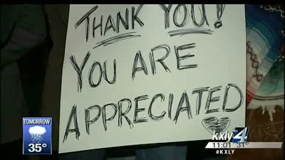 Rally shows support for Spokane Law Enforcement