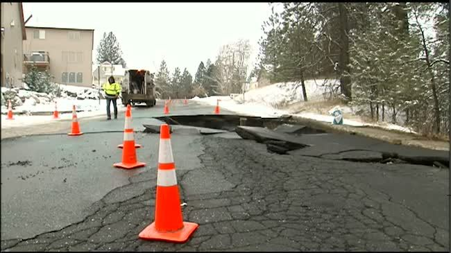 Water main break creates dangerous commute on Highway 195
