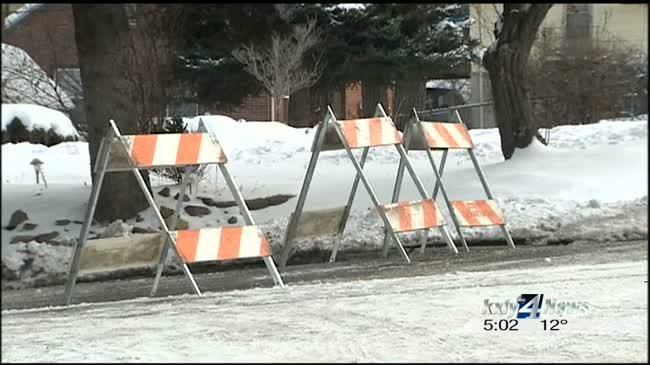Water main break creates havoc for drivers