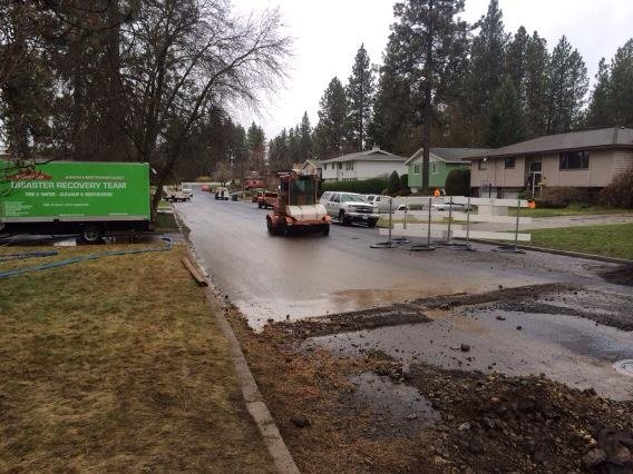 Water main break floods South Hill homes