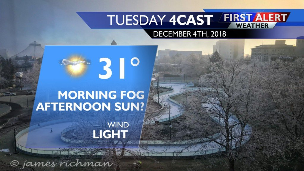 Freezing fog for the Tuesday morning commute