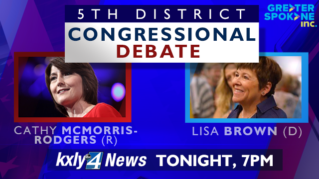 GSI, KXLY4 host 5th district congressional debate tonight