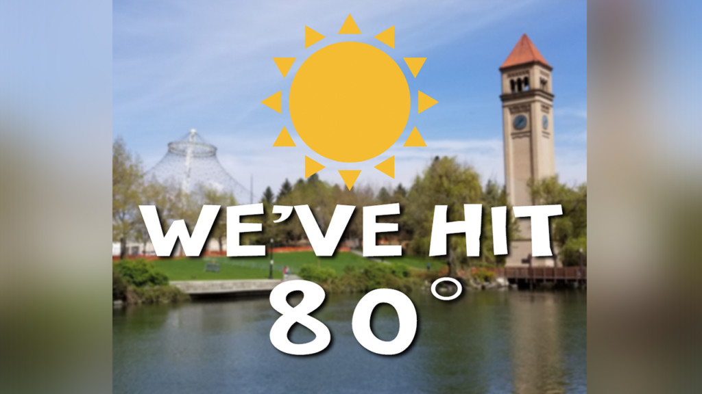 A sure sign of summer: We're officially in the 80s!