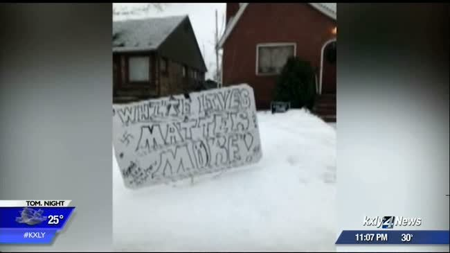 """White Lives Matter More"" sign being investigated as hate crime"