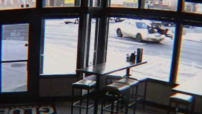Surveillance video shows two women hit by car crossing on Main and Division