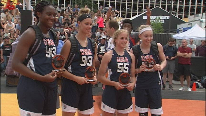 High school USA 3×3 team wins women's elite at Hoopfest