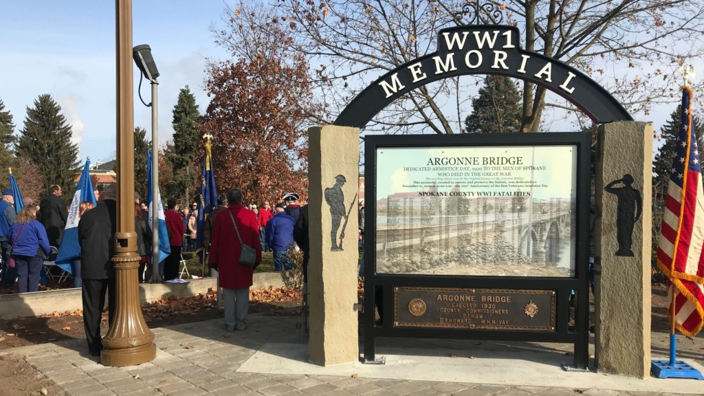 Hundreds gather to dedicate new Millwood World War I Memorial