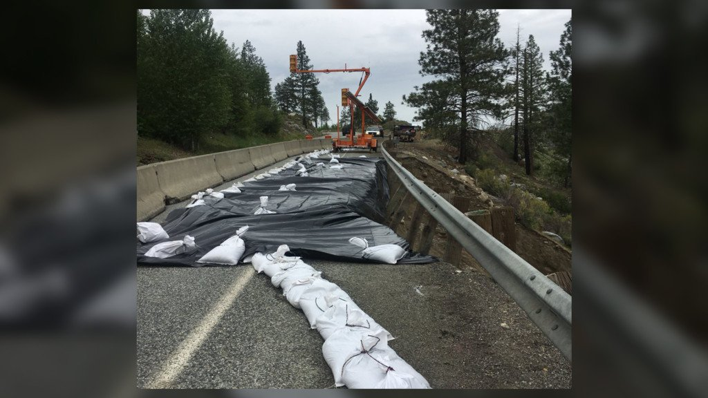 Section of SR 20 closed while crews repair washout damage