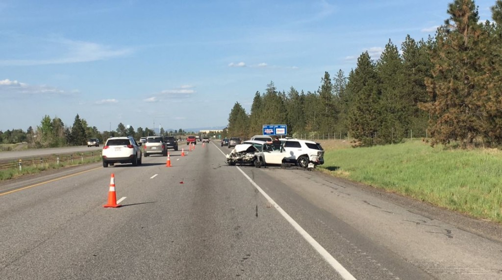 Crash near State Line sends WSP trooper to the hospital