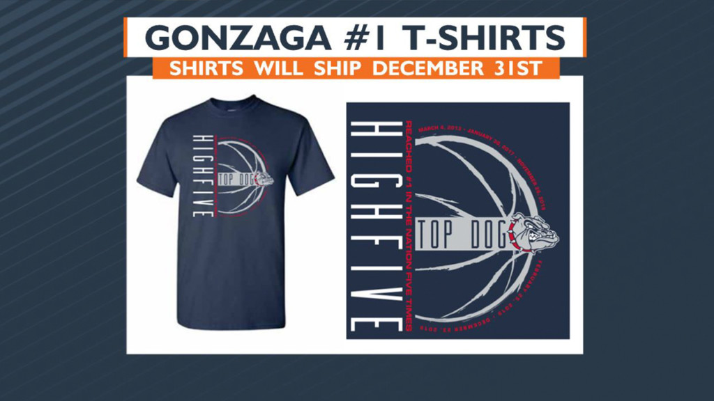 Here's where you can get ZOME Design's new Gonzaga High Five T-shirt