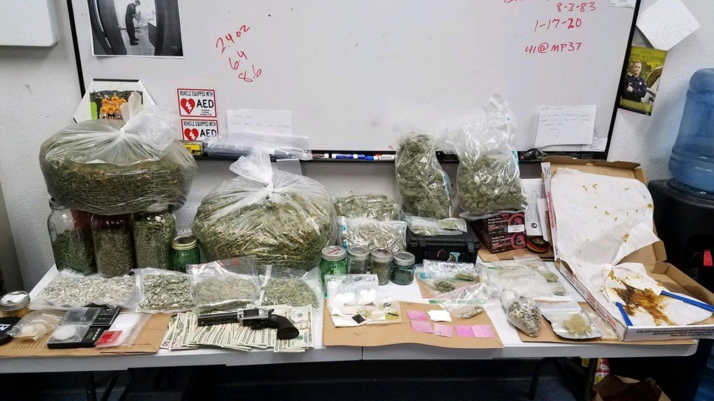 10 pounds of illicit drugs were confiscated from a pursuit suspect.