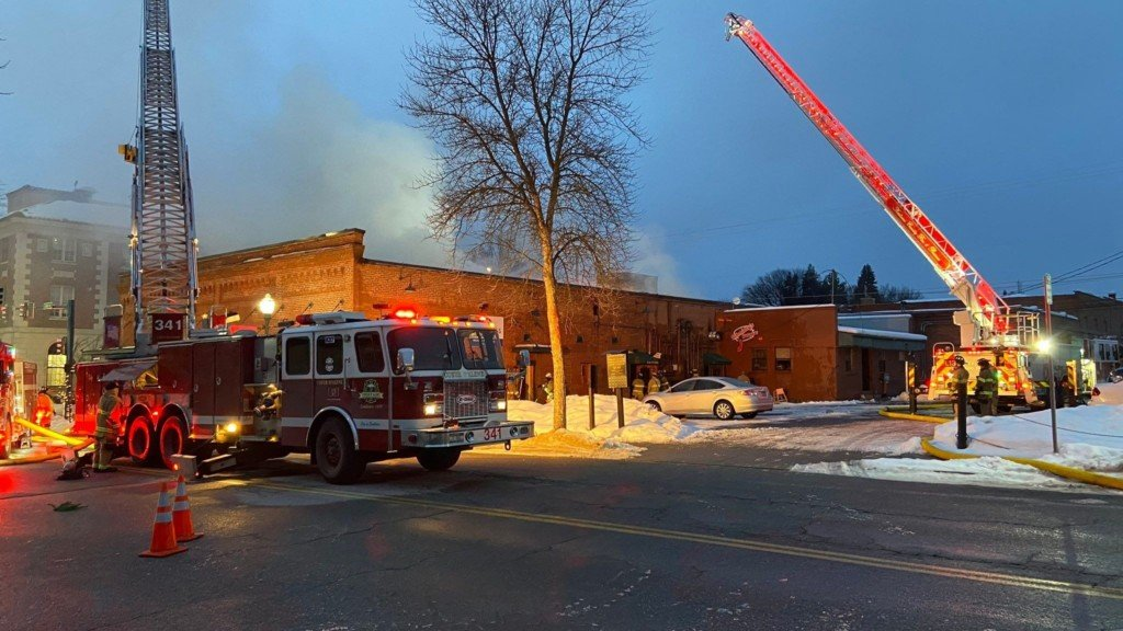 Fire businesses were destroyed in a fire in downtown Coeur d'Alene.