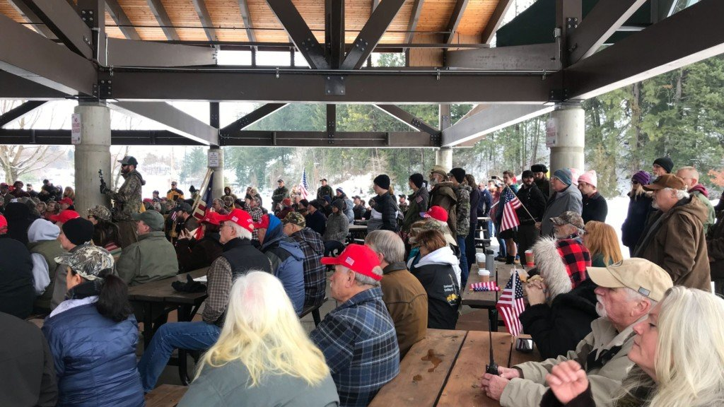 Hundreds gather for a pro-Second Amendment rally in Coeur d'Alene.