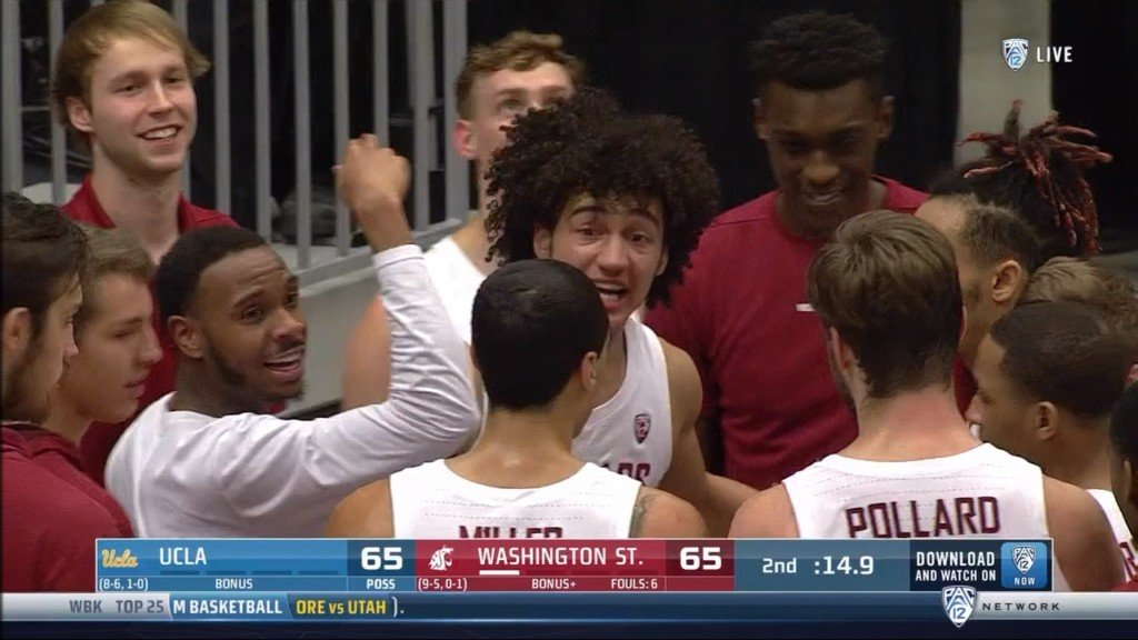 WSU's CJ Elleby hit a game-tying three-pointer to send the game to OT, and an eventual win over UCLA