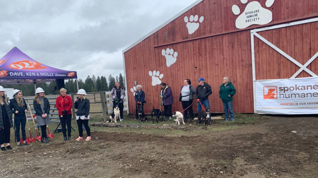 The Extreme Team breaks ground on the Spokane Humane Society's new barn