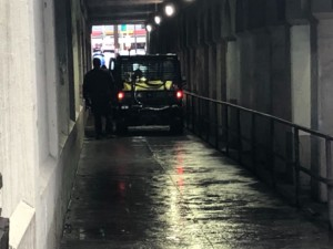 Spokane city crews respond to illegal camping under downtown underpass