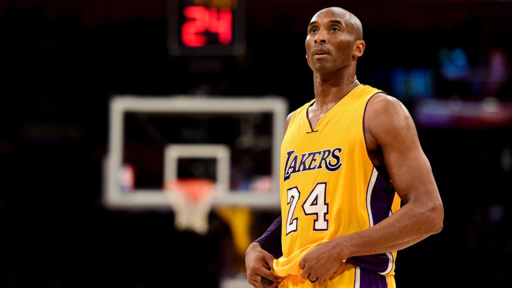 Kobe Bryant at his final game.