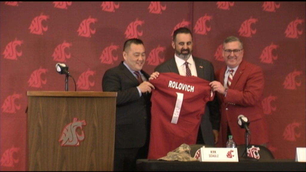 Nick Rolovich introduced as new Cougar head football coach