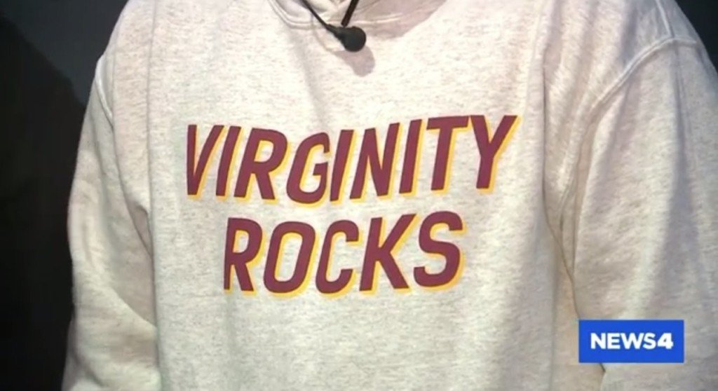 A St. Charles County couple said the Wentzville School District threatened to suspend their son if he wore his 'Virginity Rocks' sweatshirt to class again.