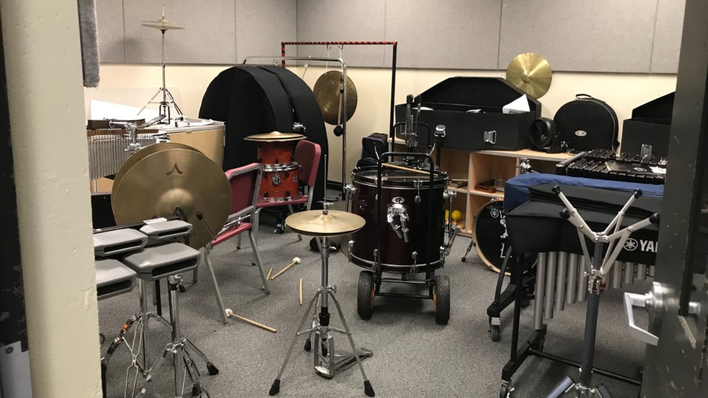 Band instruments at Liberty High